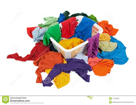 how to wash bright colored clothes bright clothes in a laundry basket royalty free