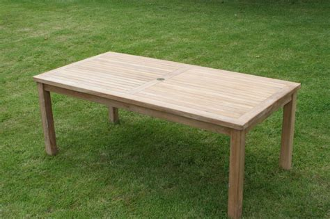 Teak Garden Furniture Uk Classic Rectangular Teak Dining Table Detachable Legs