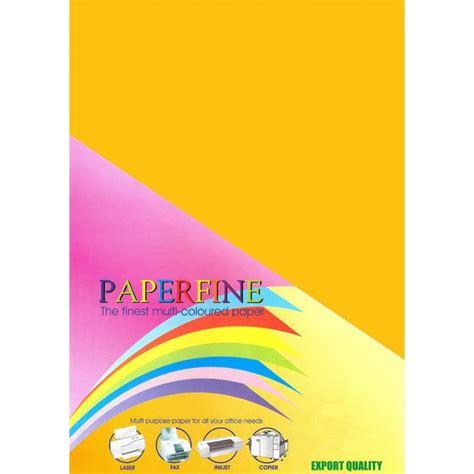 Kertas Hvs Warna Paperfine Gold paperfine kertas hvs warna a4 gold 500