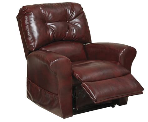 Power Lift Recliners Catnapper Landon Power Lift Lay Flat Recliner Bourbon 4852 Bourbon Homelement