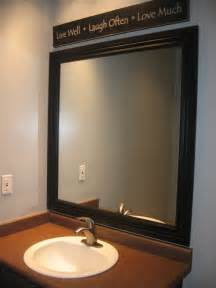 Bathroom Mirror With Frame Framed Mirror Blue Cricket Design