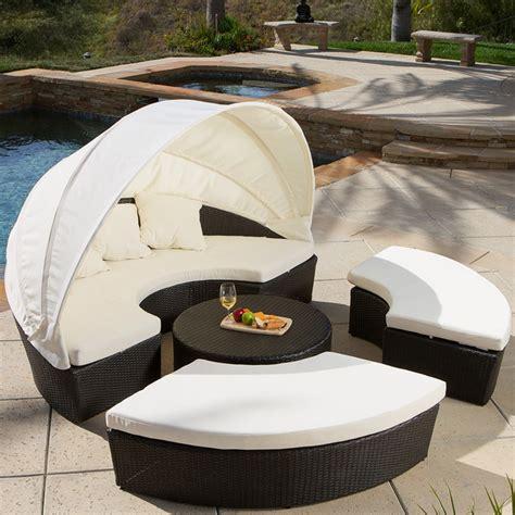 Vanowen 4 Piece Cabana Sectional Set Modern Landscape Cabana Patio Furniture