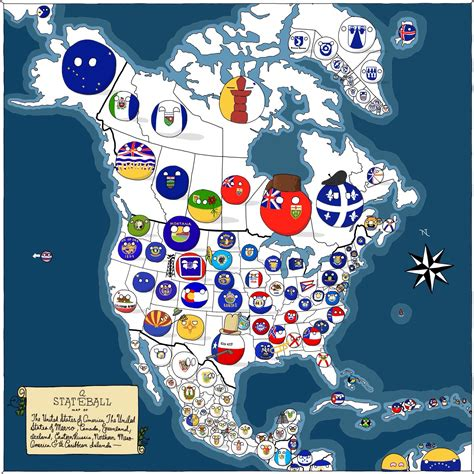 a map of america canada usa mexico by grayfru