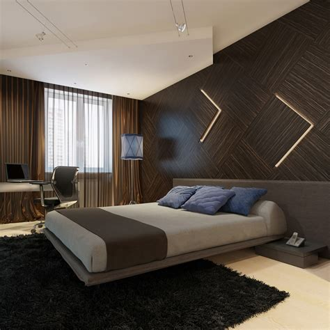modern wall for bedroom modern wooden wall paneling interior design ideas