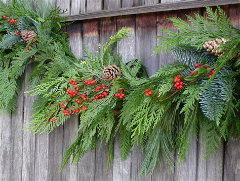 how to make xmas cedar swags wreaths of the valley deluxe garland swags