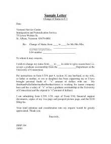 change of status cover letter best photos of school name change letter exle