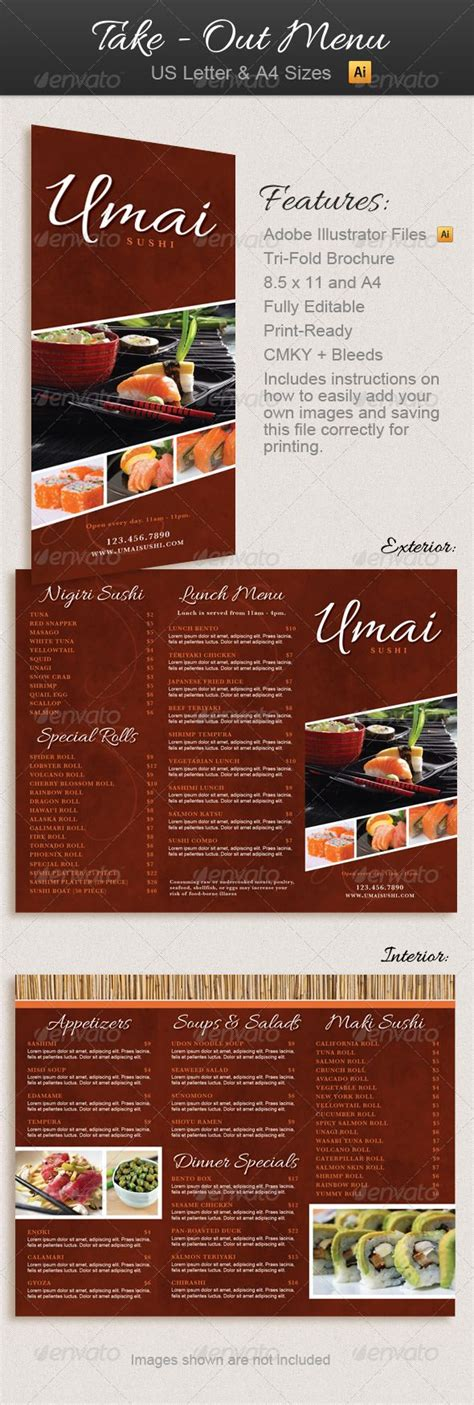 restaurant take out menu templates 1000 images about restaurant ideas on