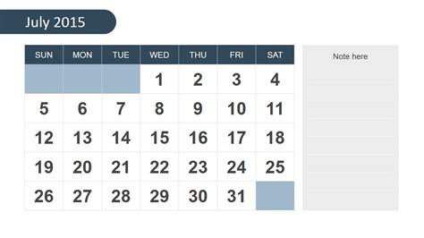 powerpoint calendar template free 2015 calendar template for powerpoint slidemodel