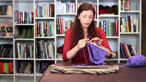 how to connect knitting in the how to connect two knitting sections on an infinity sca