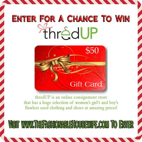 Thredup Gift Card - day 4 giveaway 50 credit for thredup online consignment shop the fashionable