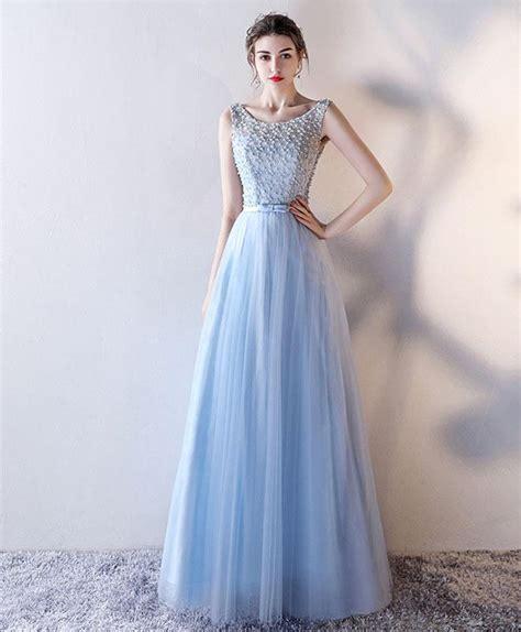 light blue tulle dress blue evening dress good dresses