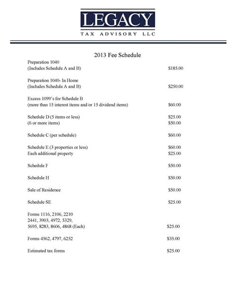 fee schedule template schedule template calendar template 2016