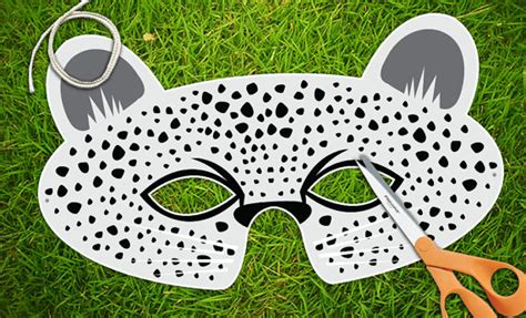 cheetah mask template snow leopard mask white leopard animal masks