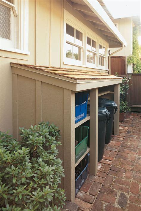 hide recycling bins  trash cans   simple lean