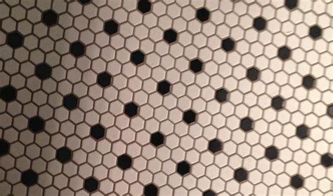 Black And White Hexagon Tile Floor And Hexagonal Black And White Bathroom Floor