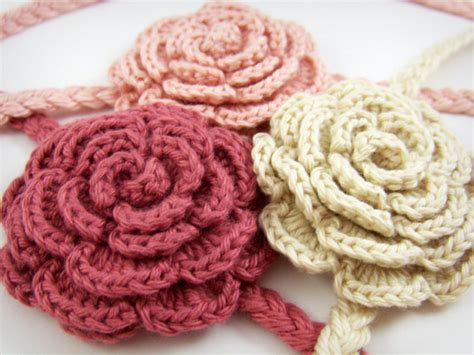 8 Crochet Detail Accessories by Items Similar To Pink Crochet Headband Baby Hair