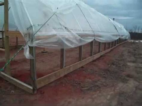 how do i build a greenhouse in my backyard diy greenhouse plastic installation youtube