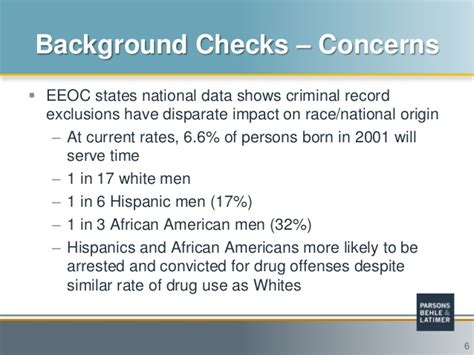 Eeoc Arrest Records Eeoc Guidance Regarding Criminal Background Checks
