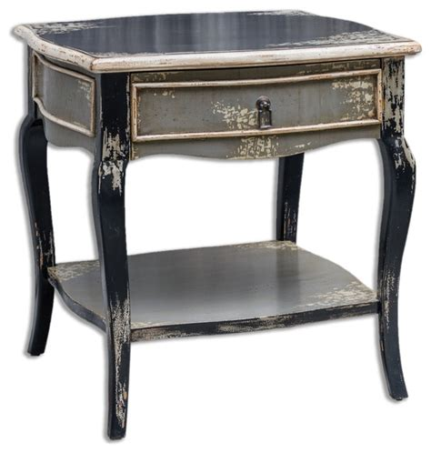 shabby chic end tables uttermost andrin distressed side table shabby chic