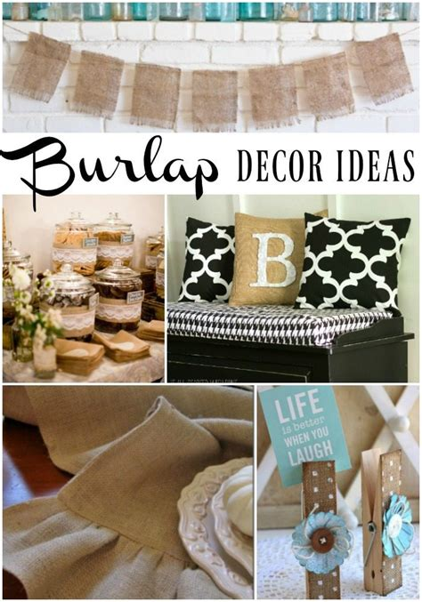 burlap decor ideas refresh restyle