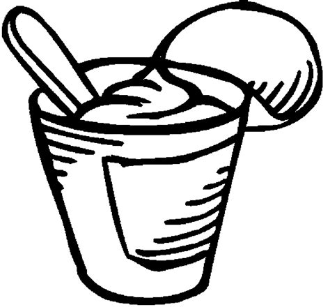 Coloring Page Yogurt by Yogurt Coloring Pages
