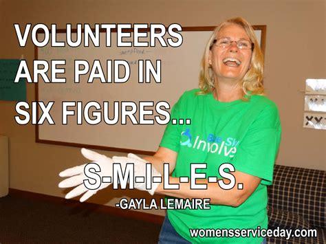 volunteers women s service day