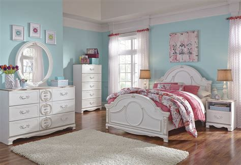youth bedroom set korabella white youth panel bedroom set b355 52 53 83 ashley