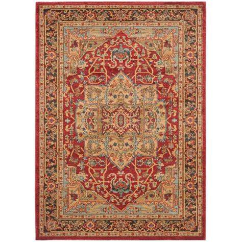 4 X 5 Area Rugs Safavieh Mahal Navy 4 Ft X 5 Ft 7 In Area Rug Mah625b 4 The Home Depot