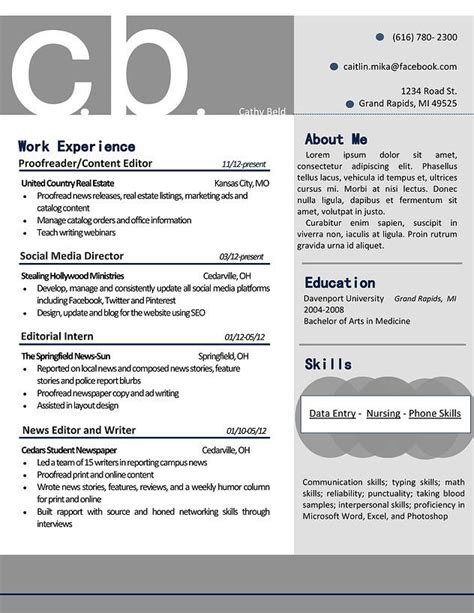 bold resume template my resume design that is professional and bold in gray