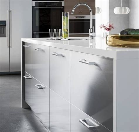 Ikea Stainless Kitchen Cabinets Prep In Style With A Spacious Ikea Kitchen Island With Stainless Steel Grevsta Drawers
