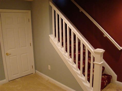 how to install stair banister handrails for outdoor steps installing basement stair