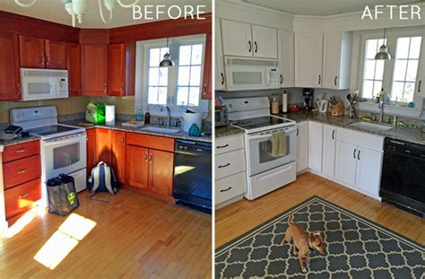 how to paint new kitchen cabinets how to paint your kitchen cabinets before after