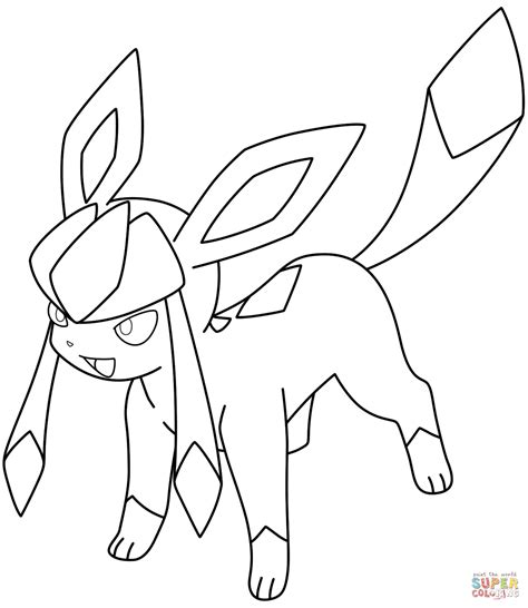 pokemon coloring pages of leafeon glaceon pokemon coloring page free printable coloring pages