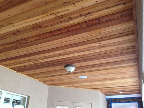 Tongue And Groove Cedar Ceiling by Tongue And Groove Stained Cedar Ceiling We Got You