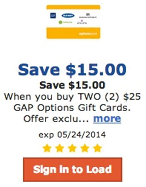Gap Online Gift Card - qfc and fred meyer 50 worth of gap gift cards for 35 also includes old navy