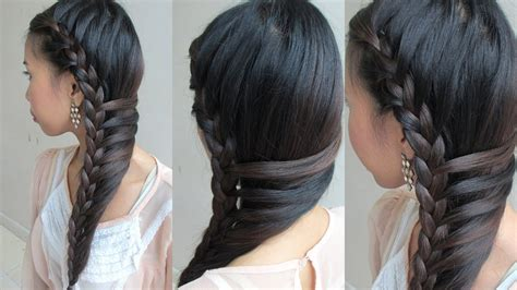 side swept mermaid braid youtube