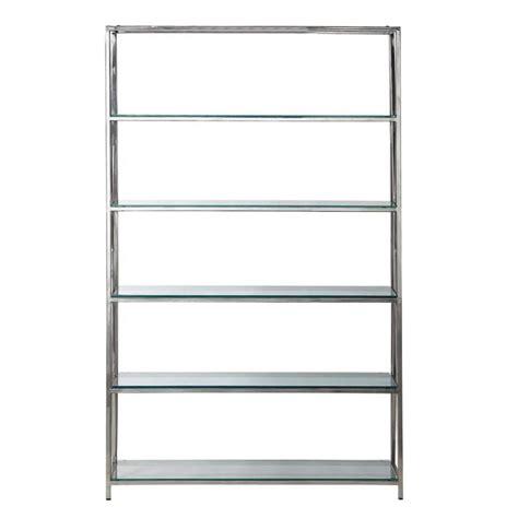 etagere 125 cm shelf unit in metal w 125 cm chrome plated helsinki