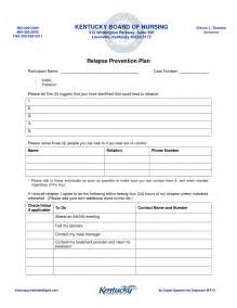 relapse prevention plan template relapse prevention plan template best business template