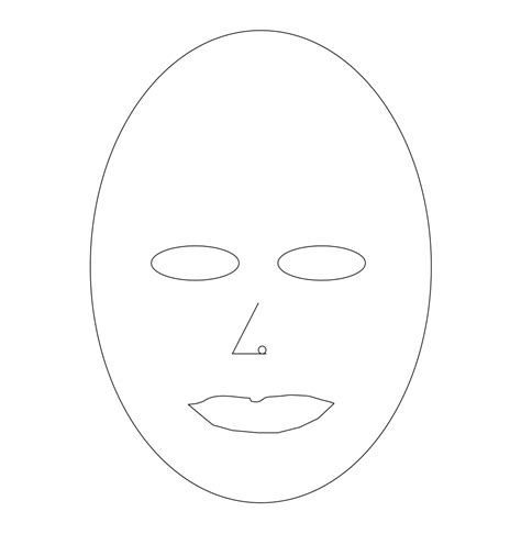 blank mask template printable www imgkid com the image
