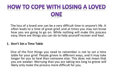 how to cope with losing a how to cope with losing a loved one