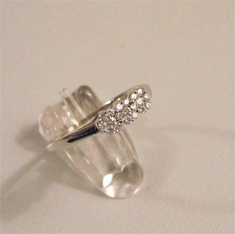 14k 585 white gold ring with 19 diamonds catawiki