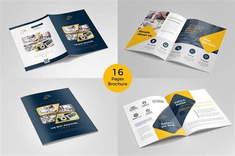 tri fold brochure template free download brochure template 16 pages brochure templates