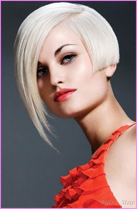 bob haircuts that cut shorter on one side one side short haircut punk stylesstar com