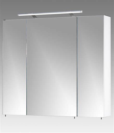 Spiegelschrank In Wei 223 Mit 3 T 252 Ren 6 Glas Einlegeb 246 Den