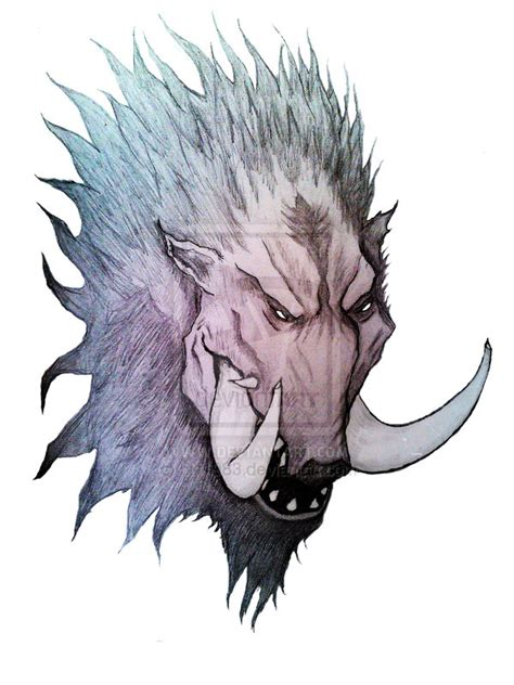 wild boar tattoo designs dangerous boar design