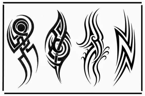 tribal tattoo outlines 40 tribal designs