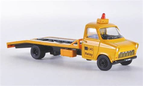 Diecast Ford Transit Connect Hotwheels Miniatur Ford Transit Mki Aa Relay Abschlepper Oxford Modellauto 1