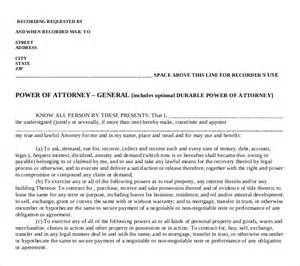 general power of attorney template sle general power of attorney form sle power of