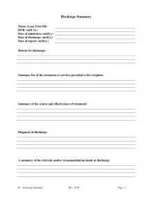 Discharge Form Template by Discharge Summary Template Playbestonlinegames
