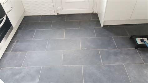Black Slate Kitchen Tiles Rejuvenated in Paisley   Tile